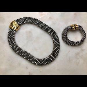 Vintage Statement necklace and bracelet set